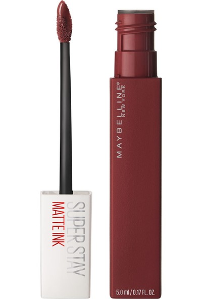 Maybelline New York Super Stay Matte Ink Likit Mat Ruj - 50 Voyager - Bordo