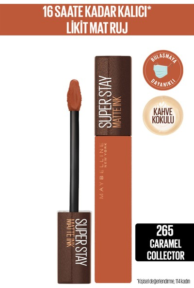 Maybelline New York Super Stay Matte Ink Likit Mat Ruj - 265 Caramel Collector