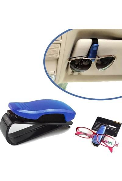 Muqgew Çok Amaçlı Klipsli Araç Içi Gözlük Tutacağı-Mavi