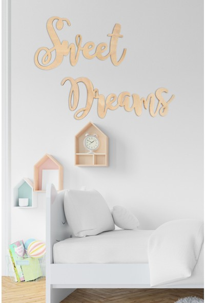 Nt Handmade Sweet Dreams Ahşap Lazer Kesim Duvar Dekoru