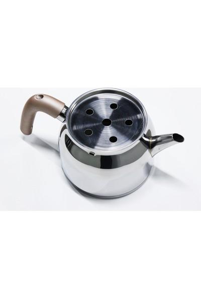 Papatyam Sude Mini Çelik Kulp Çaydanlık Takımı