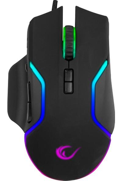 Rampage Miracle M1 USB Siyah 8 Tuşlu Rgb 7200DPI Gaming Oyuncu Mouse