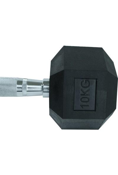 Power Hex 10 kg Kauçuk Dambıl