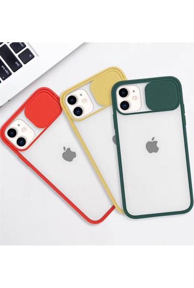 """Semers Apple iPhone 12 Kılıf 6.1"""" Kamera Lens Sürgülü Korumalı Slayt Silikon"""