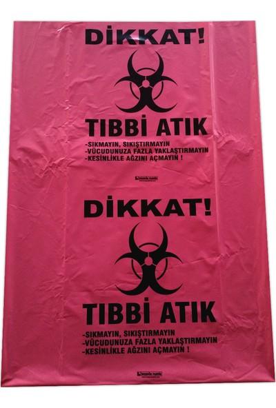 Hoşgör Plastik Tıbbi Atık Torbası Poşeti 55 x 60 ( 10 Rulo - 250'LI )