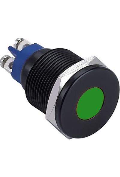 Onpow GQ19T-D/G/24V/A 19 mm Yeşil Sinyal Lambası