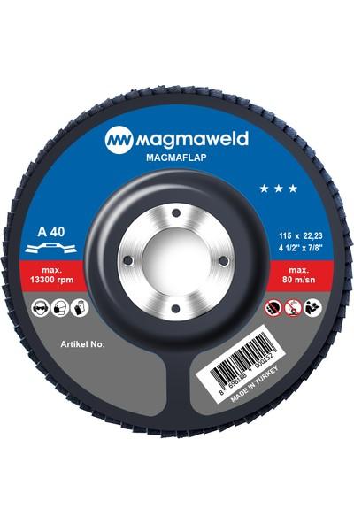 Magmaweld Flap Disk 40 Kum 115 x 22 mm