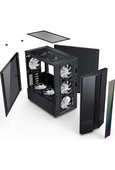 GameBooster GB-M201B 600w 80+ USB 3.0 m-ATX, ARGB Fan & ARGB Strip Siyah Gaming Kasa (JBST-GBM201B)