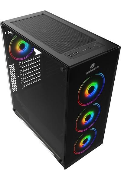 GameBooster GB-PE05B 600w 80+ USB3.0 Full Siyah Tempered Glass RGB Fanlı Gaming Kasa (JBST-GBPE05B)