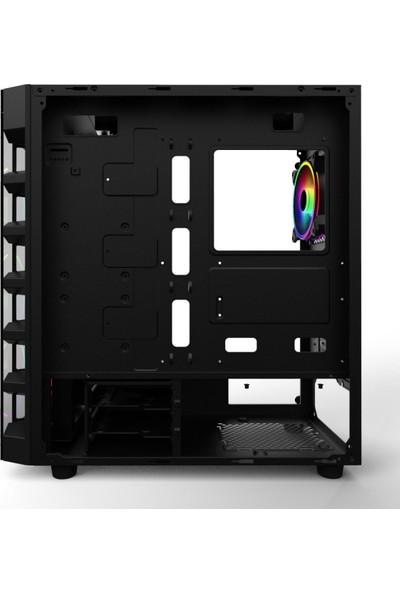 Power Boost X59RGB 650w 80+ USB 3.0 Tempered Glass 6 x RGB Fanlı Gaming Kasa (JBST-X59RGB-650)