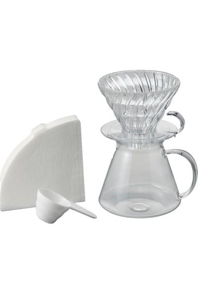 Hario Simply V60 02 Kahve Demleme Kiti Cam