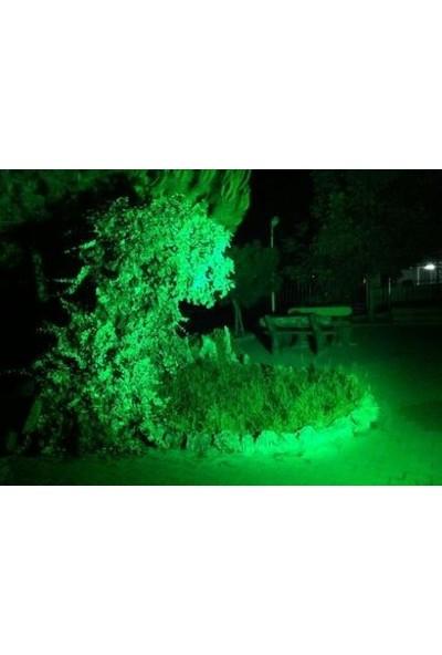 Hightek 100 W Slim Kasa Smd Led Projektör Dış Mekan Yeşil
