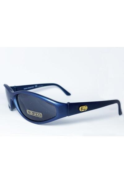 K.c. Kajal Collection Italya Üretimi Mavi Çocuk Spor Güneş Gözlüğü