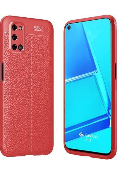 CaseUp Oppo A52 Kılıf, CaseUp Niss Silikon Kırmızı