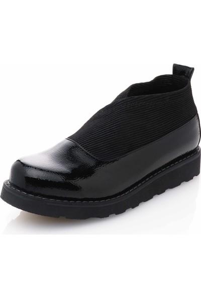 İriadam 42 Numara 17355 Siyah Büyük Numara Gündelik Kadın Ayakkabısı