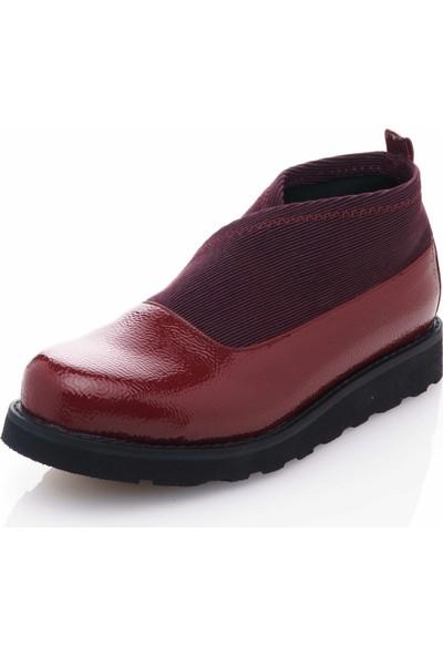 İriadam 44 Numara 17355 Bordo Büyük Numara Gündelik Kadın Ayakkabısı