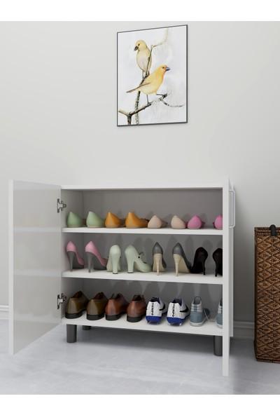 Rosette Menori Raflı Ayakkabılık