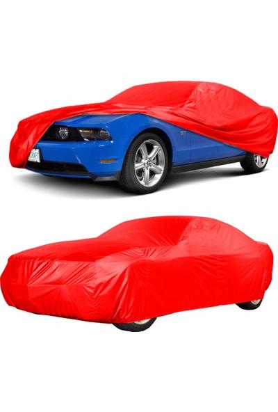 CoverPlus Fiat EGEA HB 2018 Model Sport Araba Brandası - Kırmızı