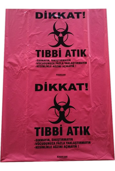 Hoşgör Plastik Tıbbi Atık Torbası Poşeti 60 x 85 cm 100'LÜ