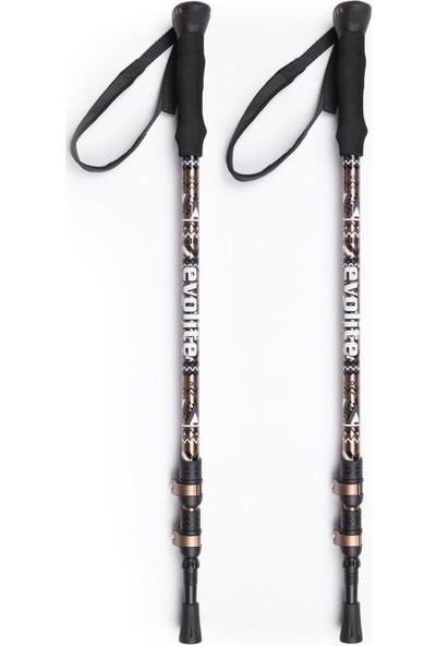 Evolite Golden Quik-Lock Dıştan Kilitli Trekking Batonu