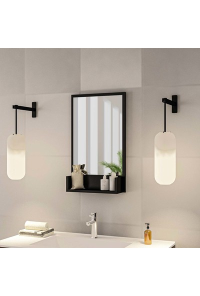 Bluecape Inci 75CM Raflı Antre Hol Koridor Duvar Salon Mutfak Banyo Wc Ofis Çocuk Yatak Odası Aynası