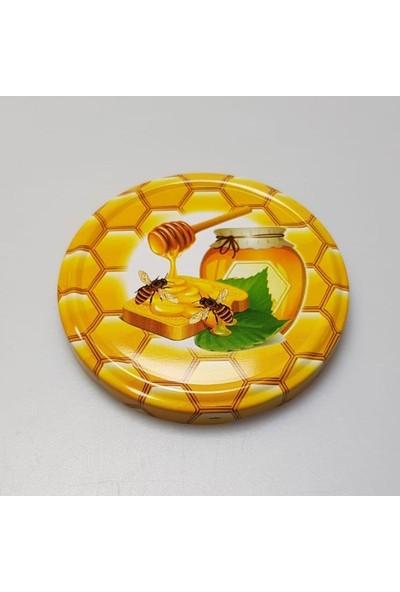 Rastaş Arı-Bal Desenli Cam Kavanoz Kapakları 100 Adet 82 mm
