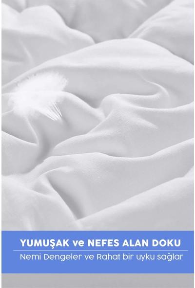 Özsay Home Microsaten Beyaz Tek Kişilik Yorgan