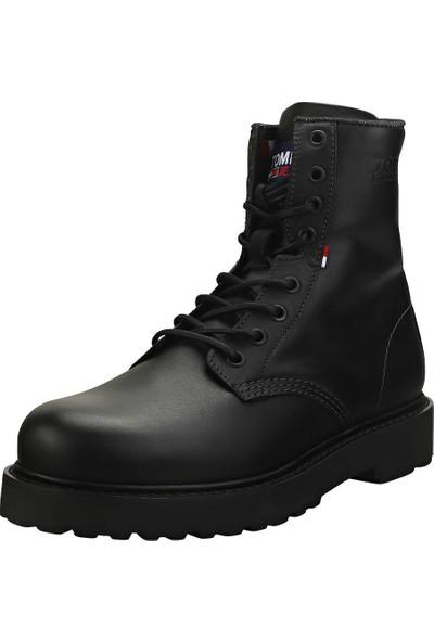Tommy Hilfiger EM0EM00547.BDS Mens Leather Lace Up Boot Erkek Ayakkabı