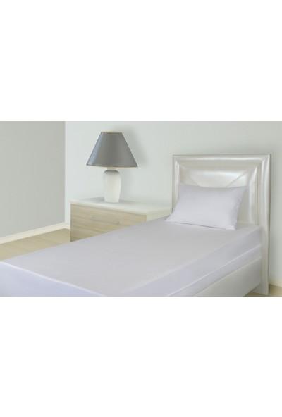 Penpu Pamuklu Penye Yatak Koruyucu Alez Beyaz Fitted 90 x 190 cm