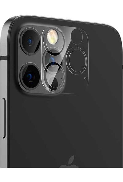 Benks Apple iPhone 12 Pro Max Benks Soft Kamera Lens Koruyucu Cam