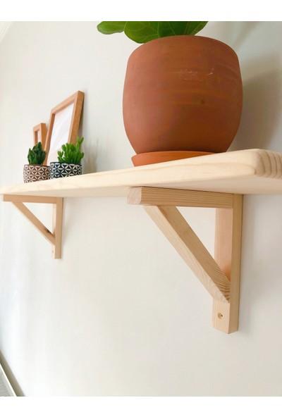Wood Log Art Studio Masif Ahşap Dekoratif Duvar Rafı