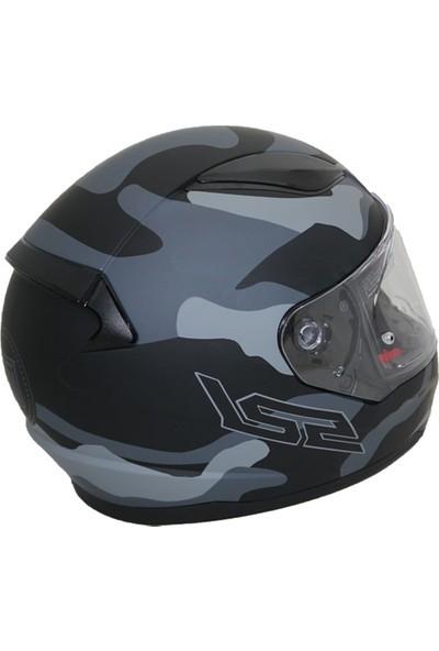 Ls2 Rapid Army Mat Siyah Kask