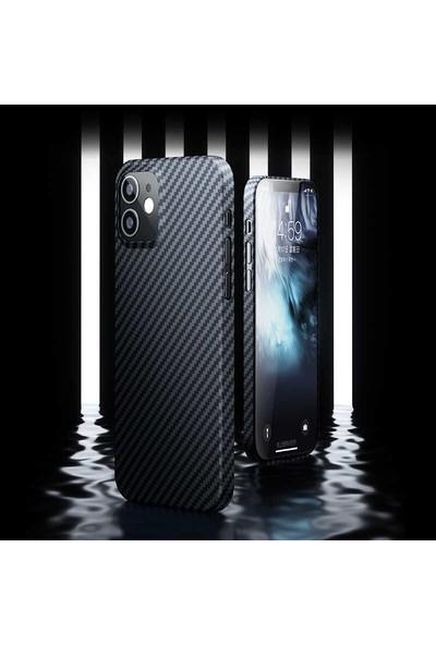 Teleplus iPhone 12 Kılıf Benks Aramid Karbon Desing Silikon Siyah