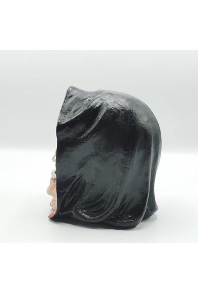 Bun Design Kurukafa Biblo Siyah Pelerin