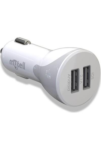 Mytell My Car Charger Çift USB 2.1A Araç Şarj Başlığı