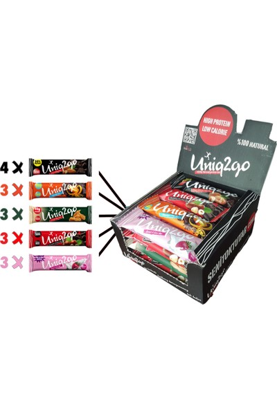 Uniq2go Midi Seri Protein Bar 16 Adet