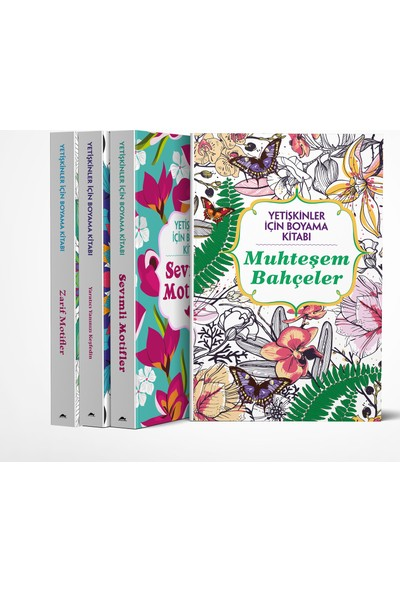 Maya Yetişkinler İçin Boyama Kitabı Seti -4 Kitap Takım