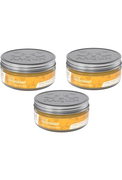 Raqun Organik Içerikli Krem Deodorant 3x50 ml