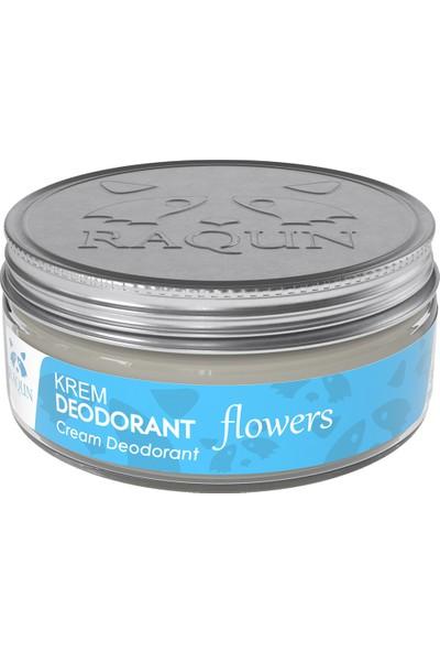 Raqun Organik Içerikli Krem Deodorant Flowers 50 ml