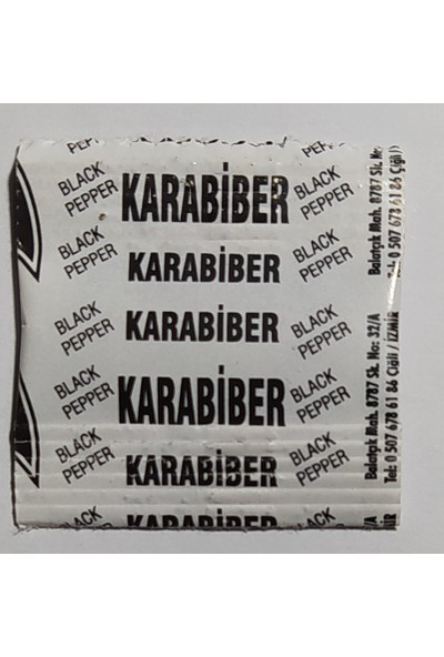 Baharart Baharatta Sanat Tek Kullanmılık Baharat Üçlü Set Tuz + Karabiber + Pulbiber 1000'LI