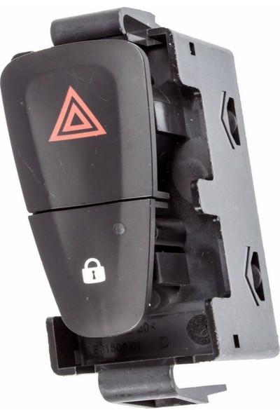 Mcar Renault Fluence - Megane Iıı Dörtlü Flaşör ve Kapı Kilit Düğmesi