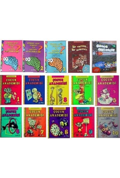 Görsel Algı ve Bellek Alıştırmaları + Çocuk Akademsi Seti (10 Kitap)+ Bir Varmış Bir Yokmuş Her Güne Bir Masal + Bilgi Anahtarı Aile Katılım Kitabı