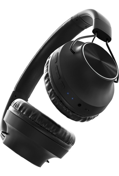 MF Product Acoustic 0129 Mikrofonlu Kulak Üstü Kablosuz Bluetooth Kulaklık Siyah