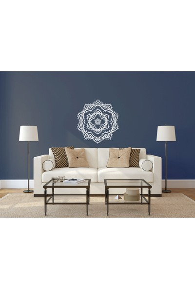 Elka Bayrak Mat Beyaz Mandala Model 2 Duvar Sticker