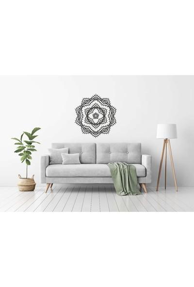 Elka Bayrak Mat Siyah Mandala Model 2 Duvar Sticker