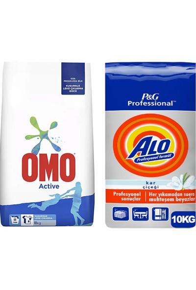 Omo Active Toz Çamaşır Deterjanı 10 kg + Alo Professional Toz Çamaşır Deterjanı 10 kg