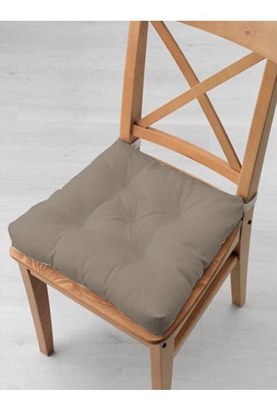 Tezkotekstil 4'lü Kombin Pofidik Kare Sandalye Minderi 40 x 40 cm Bej