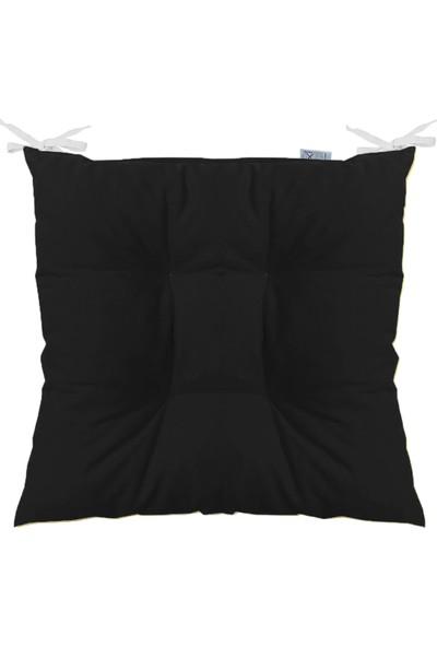 Tezkotekstil Pofidik Kare Sandalye Minderi 40 x 40 cm Siyah