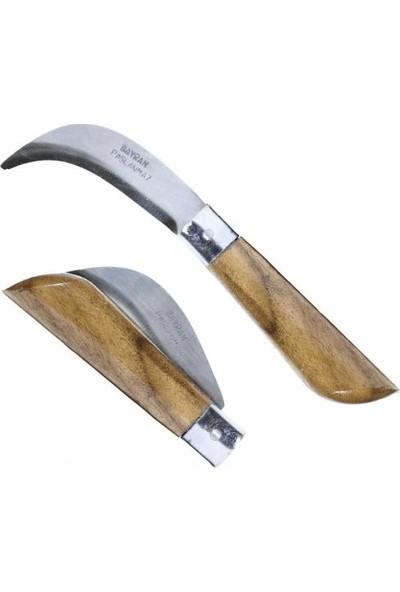 Bayram Baylan Paslanmaz Eğri Uçlu Bıçak Ara Çakısı Bağ Aşı Bıçağı No:3