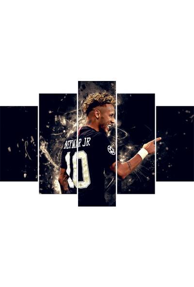 Neymar Temalı 5 Parçalı Tablo